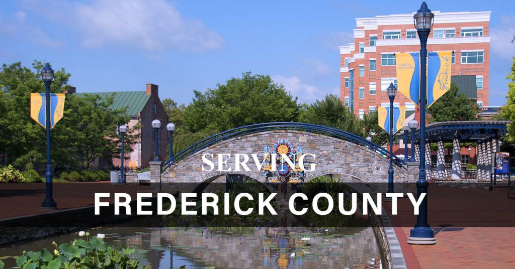 A view of the Frederick City canal and downtown area where our Frederick Office is located nearby.